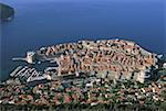 Croatie, Dalmatie, Dubrovnik, vue aérienne