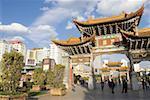 Chine, Yunnan, Kunming, ancienne porte de la ville