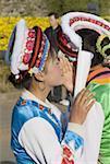 Chine, Yunnan, Dali, jeunes femmes Bai