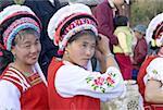 China, Yunnan, Lijiang, Bai women portrait