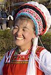 China, Yunnan, Lijiang, Bai woman portrait