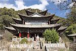 China, Yunnan, Lijiang, black dragon pool Park, Taoist temple