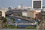 Vue d'ensemble de la rivière Spree, Berlin, Allemagne