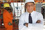 Travailleurs à l'usine de traitement de l'eau
