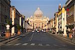 St Peter's Basilica and Vie della Conciliazione, Rome, Italy
