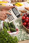 Grocer Using Calculator