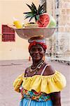 Porträt Frau verkaufen Obst, Cartagena, Columbia