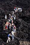 Tourist Hiking Volcano Pacaya, Guatemala