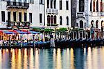 Gondolas Anchored on Grand Canal, Venice, Italy
