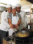 Cooks in Family Restaurant