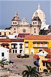 Plaza de la Aduana and Iglesia de San Pedro Claver, Cartagena, Colombia