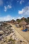 Beach in Mahahual, Costa Maya, Mexico