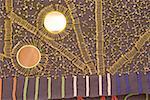 Afrique du Sud, Durban, tissu décoré avec des épingles de sûreté