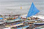 Indonesia, Bali, Sanur, fishing dugouts