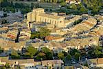 Vue aérienne de Provence, Village de Valensole, France