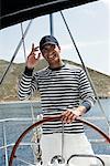 Man Sailing, Dodecanese, Greece