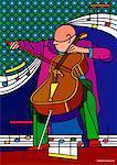 Illustration du violoncelliste