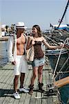 Couple à la Marina, Dodécanèse, Grèce