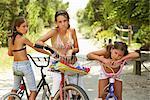 Girls Riding Bicycles