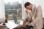 Portrait of Stressed Businessman