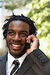 Businessman Talking on Cellular Phone