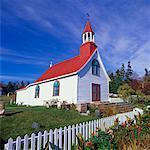 Église à Tadoussac, Québec, Canada