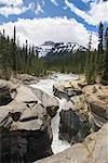 Mistaya River, Mistaya Canyon, Mount Sarbach, Banff National Park, Alberta, Canada