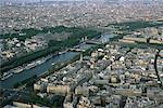 Paris, France, aerial view of the Seine