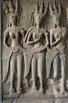 Bas-Relief au Temple d'Angkor Wat, Angkor Wat, Cambodge