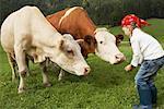 Girl on a Farm