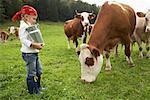 Girl on Dairy Farm