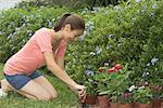Teenagd Girl Gardening