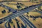 South Africa, Gauteng Province, Johannesburg, aerial view of Buccleuch interchange