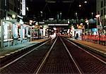 Train station at night, Berlin, Germany