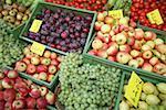 Assortiment de fruits au marché