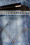 Portefeulilles en cuir pour piquer de poche de jeans