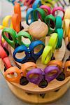 Multi colored scissors