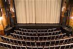 An empty art deco theatre