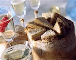 Champagne et sandwiches de fantaisie