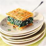 Spanakopita, spinach and feta flaky pastry