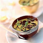 crèmes aromatisées de safran aux champignons St-Georges