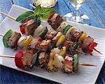 Tuna and fennel brochettes