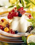 panna cotta with summer fruit