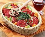 Rohe Rindfleisch für bourguignon