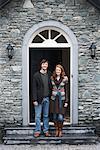 Couple on House Doorstep