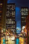 Yonge Street at Dusk, Toronto, Ontario, Canada