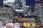 Cityscape at Night, Vancouver, British Columbia, Canada