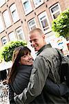 Couple Walking through Market, Amsterdam, Netherlands