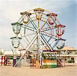 A Ferris wheel in an amusement park