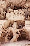 Statues of Hindu god in a cave, Ellora, Aurangabad, Maharashtra, India